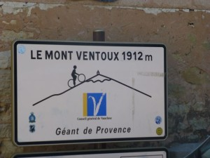 The beginning of the ascent to Mont Venrtoux from Bedoin