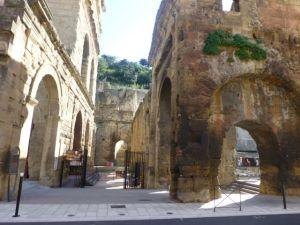 Roman artifacts on the streets of Orange