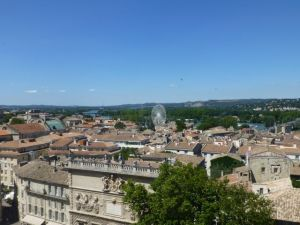 A view of Avignon from the top of the Palace of the Popes
