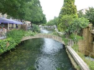 The canals in L'Isle-sur-la-Sorgue