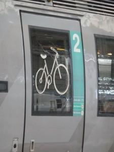 Bike car on TER train