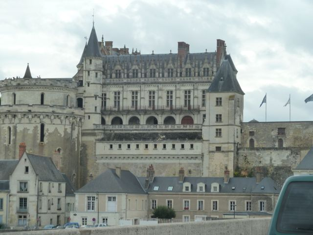 The town of Amboise with its towering chateau