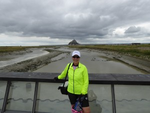 Me in front of Mont Saint Michel
