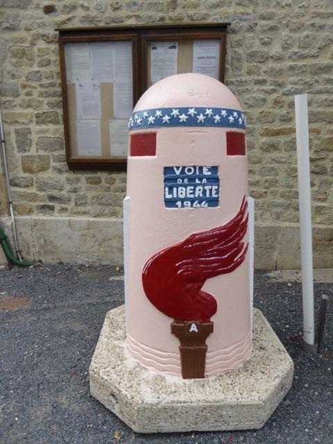 A reminder that you are on the Voie de la Liberte