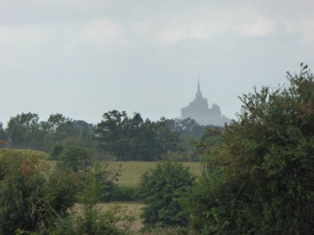 First sighting of Mont-St-Michel from about 20km away