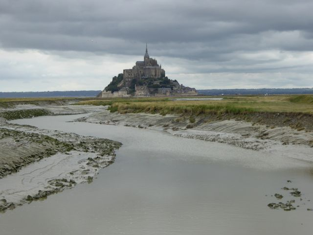 Even a dark and threatening sky could not detract from the magnificence of Mont-St-Michel