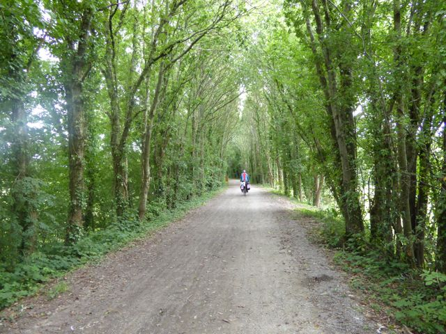 Cycle paths were safe, primarily greenways, towpaths and quiet country roads