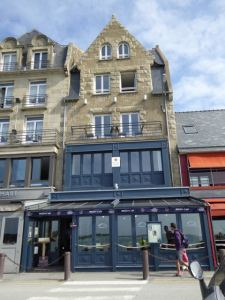 Street view of the Breizh Cafe, B&B rooms above