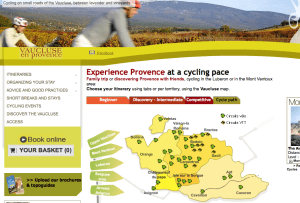 A great source of information for cycling in the Vaucluse region of Provence