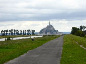 View on greenway from Pontorson to Mont-St-Michel