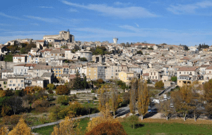 The town of Valensole in the Verdon Natural Regional Park