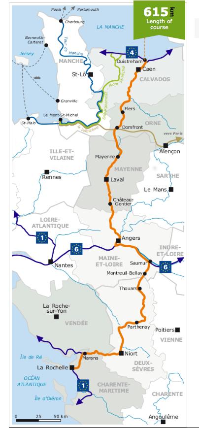 La Velo Francette, Route V-43