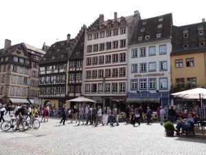The main square in Strasbourg