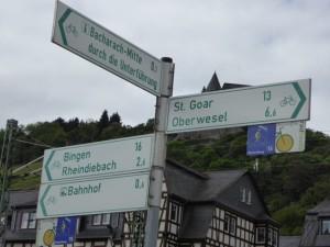 Signage along the Rhine