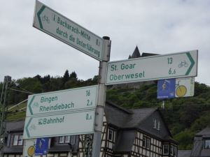 Signage along the Rhine