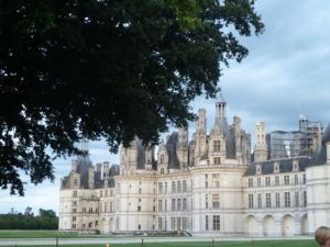 View of Chambord from my hotel room