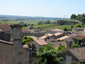 A view of the vineyards from St- Emilion