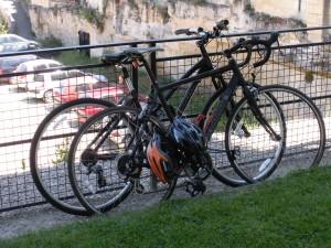 It's never a problem parking your bike in Saint Emilion