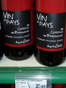 A local Loire wine for 2€40, less than $3.50!