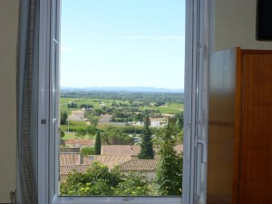 Lots of research yielded this room overlooking the vineyards for 78€/night!