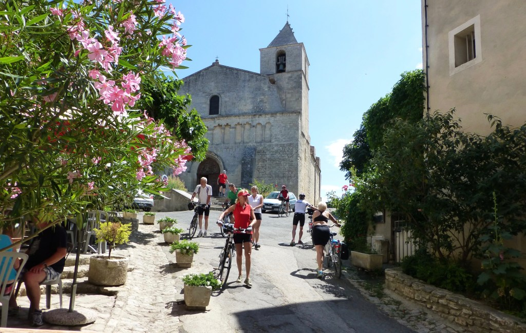 Small hill towns often missed when touring by car are a focal point of touring Provence by bike