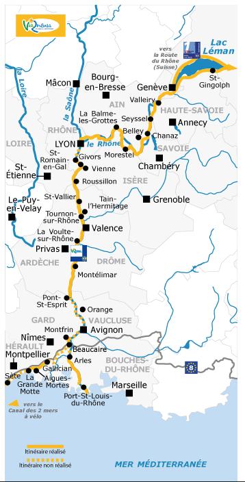 Path of ViaRhona, EV 17 in France