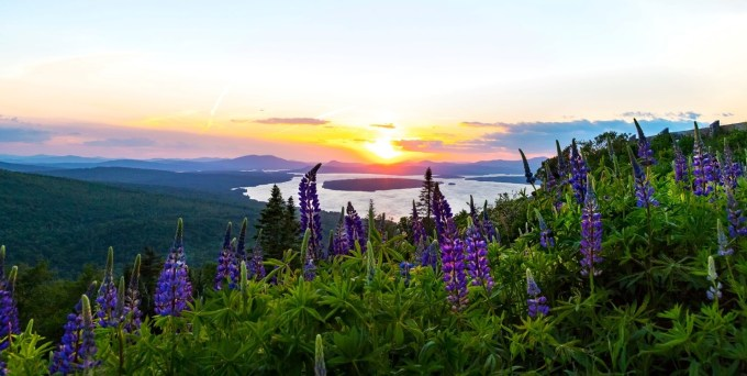 Height of Land overlook viewpoint, Rangeley Lakes, Maine