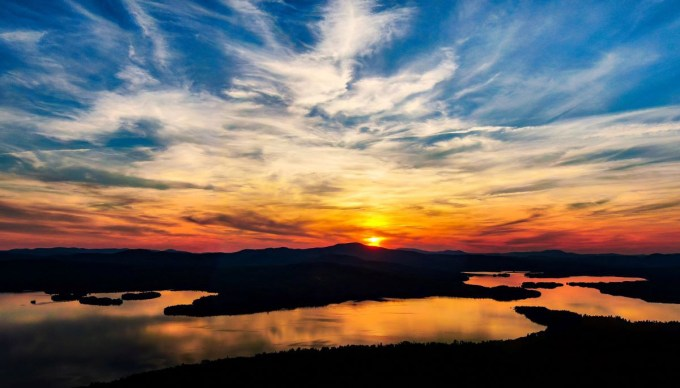 Best sunset in Rangeley, Bald Mountain