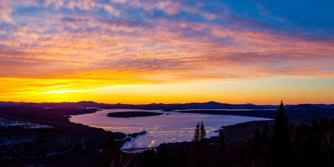Best sunset in Rangeley, Height of Land