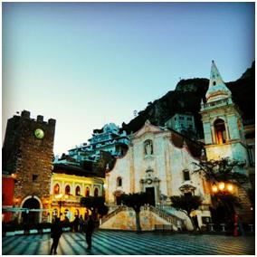 Taormina's PIazza IX Aprile