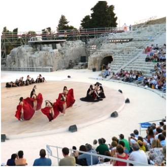 Live Theater in Siracusa's Ancient Ampitheater