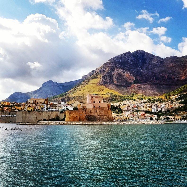 Castellammare del Golfo, Sicily from the sea. Photo Credit: Experience Sicily