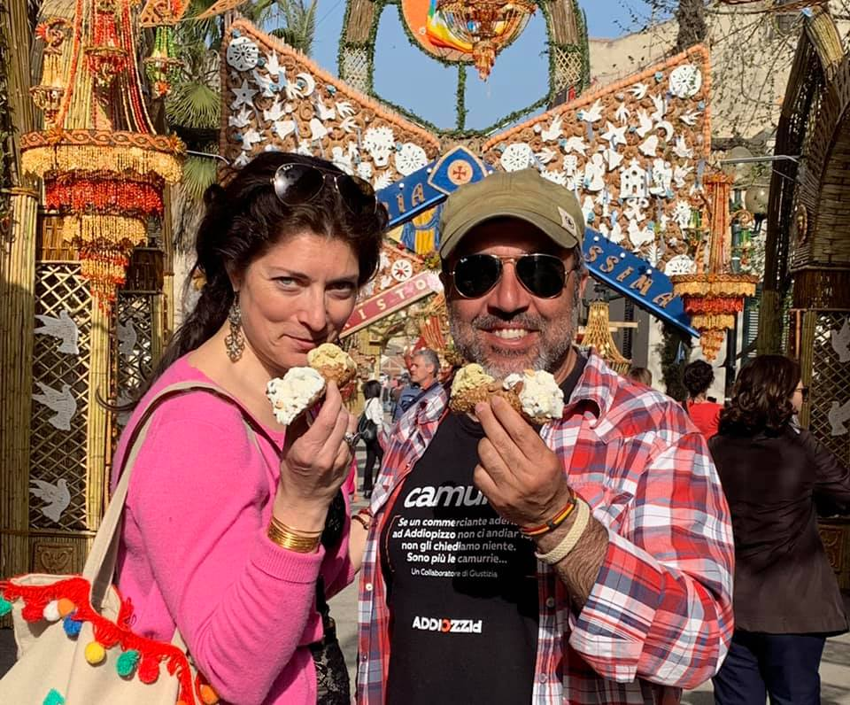 Allison Scola and PIerfilippo Spoto at the Archi di Pasqua (2019)