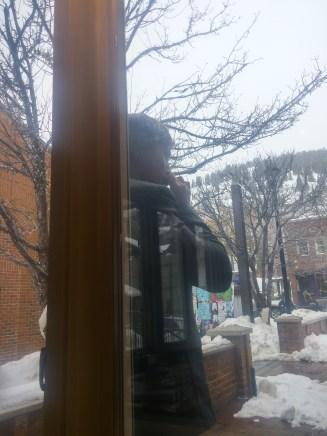 Viggo Mortensen outside Cafe Terigo