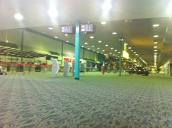 Empty Townsville Airport