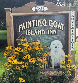 Fainting-Goat-Island-Inn-Lodging-Nichols-Tioga-County-Sign-Bed-and-Breakfast