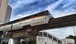 Tokyo Monorail watching at Tennozu Isle