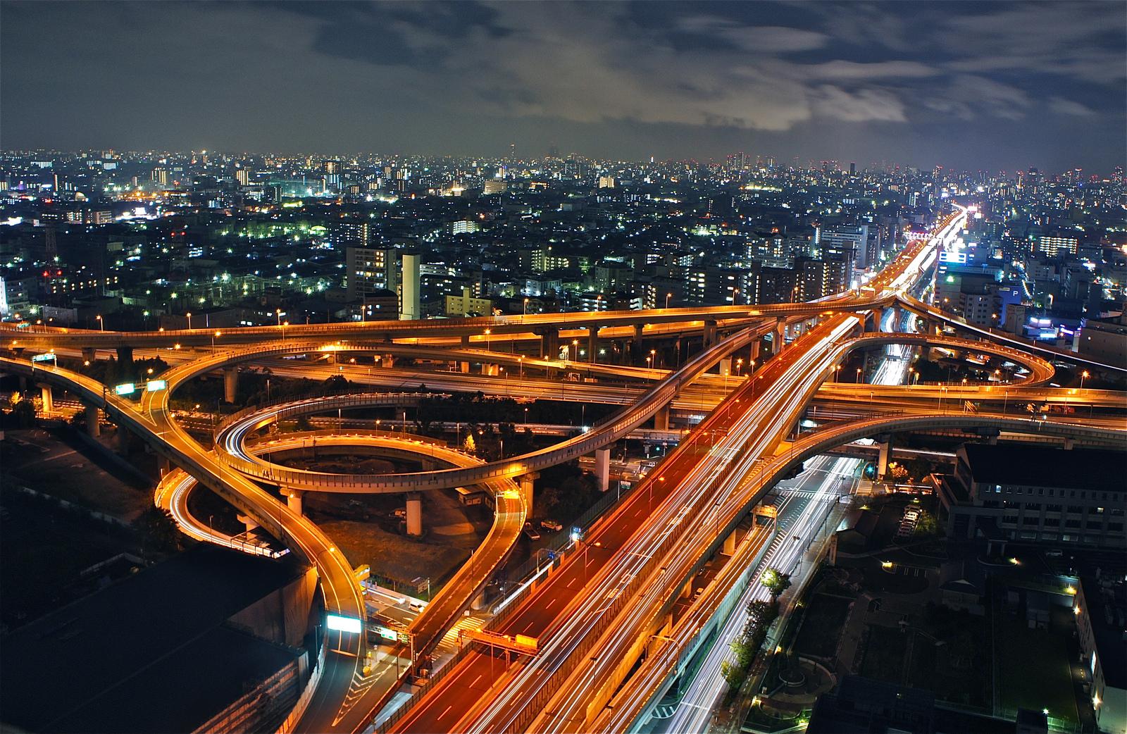 Hakozaki Junction : A complex web of highway construction