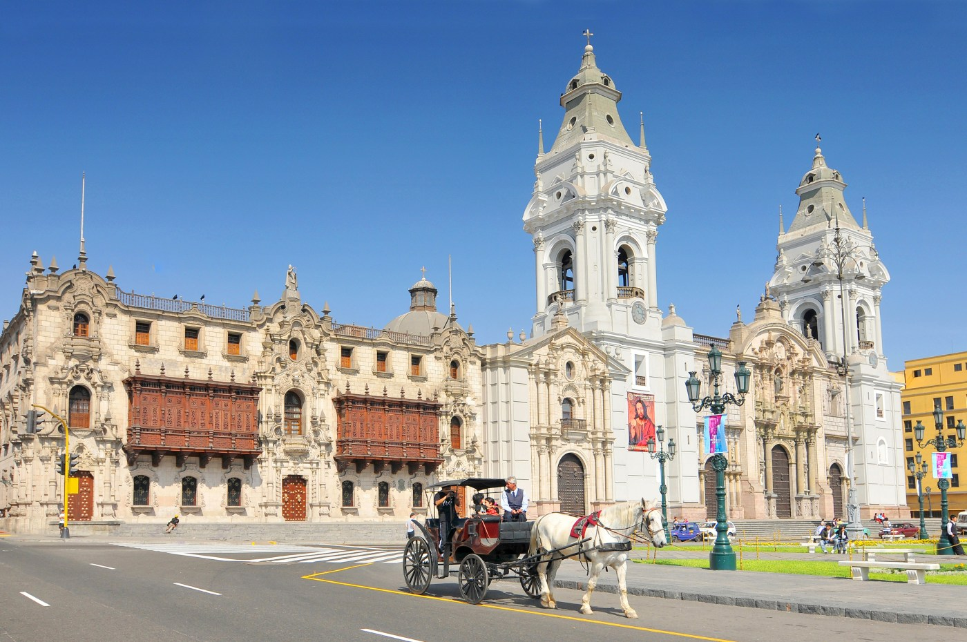 The Basilica Cathedral of Lima in Peru.