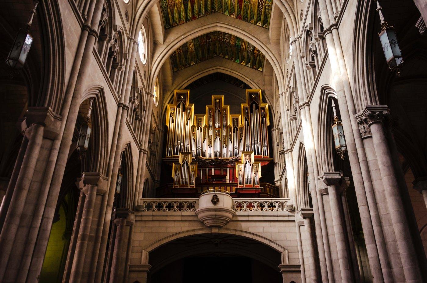 Órgano en una catedral de Toledo