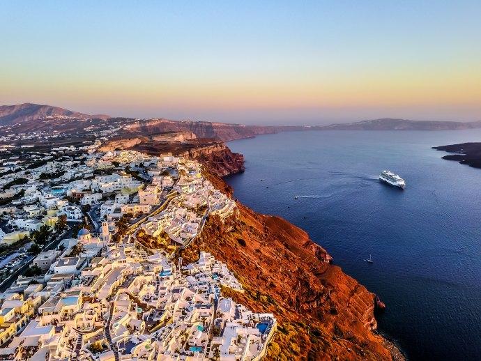 Vista de Santorini, Grecia