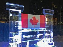 bandera de canada hielo