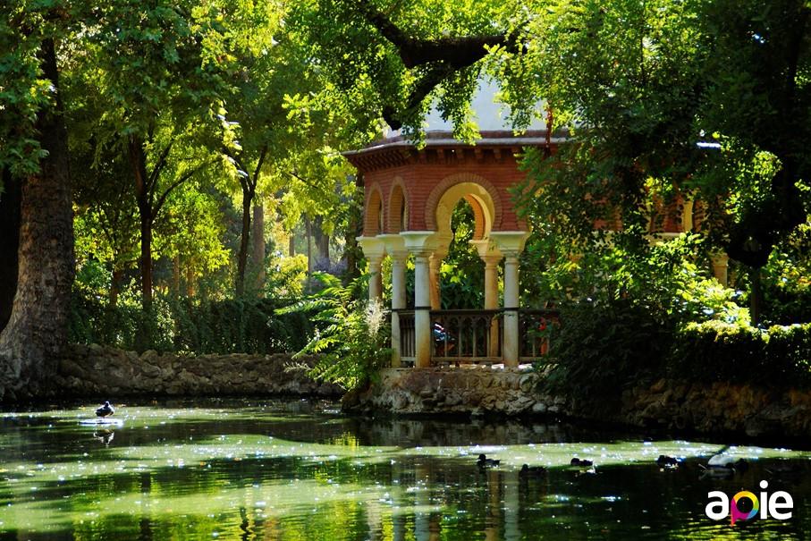 Parque de María Luisa, isleta de los patos