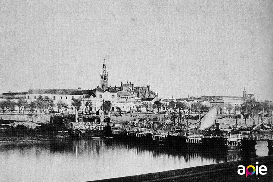 Puente de barcas de Sevilla
