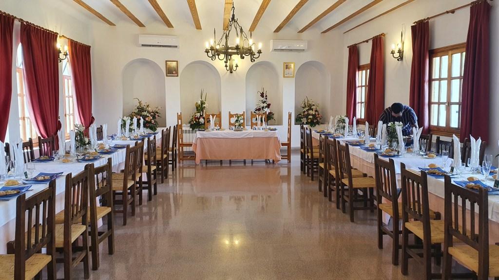Comedor del monasterio de la Virgen de Cortes