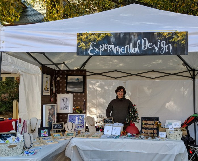 My booth at Williamsburg's 2nd Sundays Arts and Music Festival.