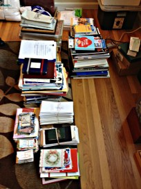 the neatly sorted pile
