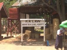 Kalaw's train sign