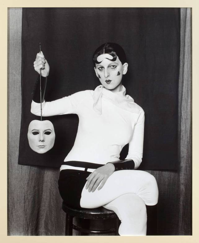 maureen-paley-gillian-wearing-artwork-me-as-cahun-holding-a-mask-of-my-face-2012