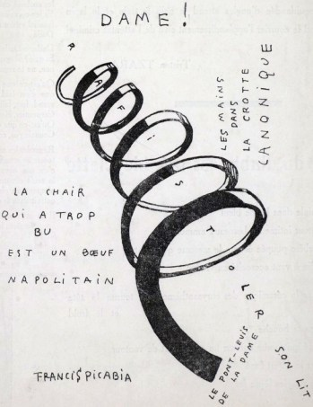 Francis Picabia, Dame! Illustration for the cover of the periodical Dadaphone, n. 7, Paris, March 1920